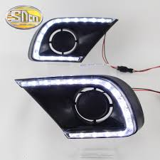 sncn led daytime running light for toyota innova 2016 2016 2016 car accessories waterproof matte abs 12v drl fog lamp decoration in car light assembly from