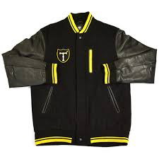 nike nike nsw destroyer varsity jacket tokyo arm leather stajan black yellow sizel thrift good
