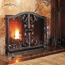 frontgate fireplace screen fireplace screen by frontgate beveled glass fireplace screen