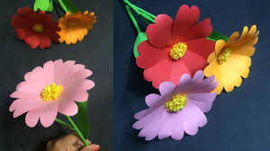 Make Easy Paper Flower How To Make Easy Paper Flower Making Paper Flowers Step By