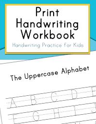 Handwritting Practice Amazon Com Print Handwriting Workbook Handwriting Practice