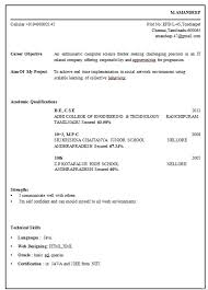 Awesome Collection Of Electrical Engineer Fresher Resume Sample for Resume  Samples For Freshers Eee Engineers 6894