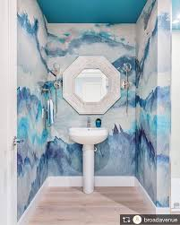 coastal bathroom design featuring