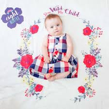Babys First Year Blanket Cards Sets Stay Wild My Child