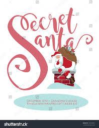 stock vector secret santa party template cartoon climbing into the chimney to deliver por