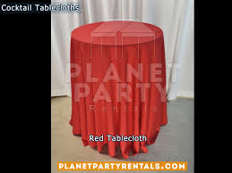 red cocktail tablecloths for cocktail table