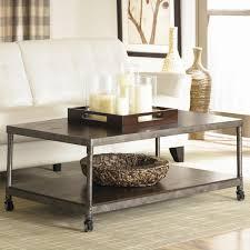 Iron And Wood Coffee Table Dark Wood Coffee Table Dark Brown Varnished Wood Coffee Table