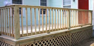 completed wood deck railing when building handrails for hand rails decks c83
