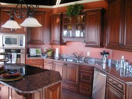 Brown Mahogany Kitchen Cabinets Mahogany Wood Kitchen Cabinet