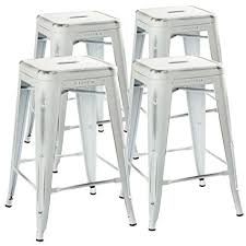 white rustic bar stools. Beautiful Rustic UrbanMod 24u201d Stool Set Of 4 By Distressed White Rustic Bar Stools Counter  Height And U