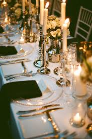 elegant table settings. Wedding Table Design With Simple Candles Black And White Linen Elegant Dinner Settings Home Remodel