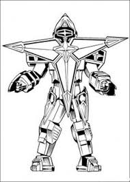 power rangers ninja star robot coloring page
