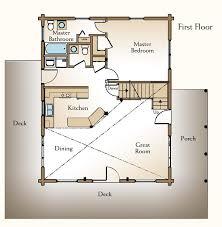 lake cabin floor plans with loft