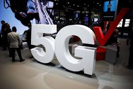 verizon communications 5g wireless signage is displayed at the company s booth during the mobile world congress americas in los angeles on sept 12