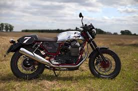 first ride moto guzzi v7 ii racer visordown