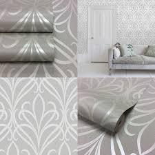 Small Picture Henderson Interiors Camden Damask Textured Glitter Wallpaper Soft