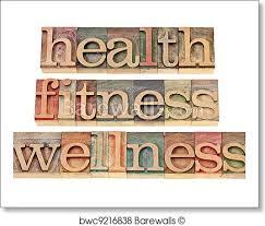 Health Fitness Wellness Art Print Poster