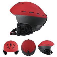 Snowboard Helmet Sizing Chart Red Women Men Sturdy Ski Snowboard Bike Skate Safety Helmet Abs Shell Sport Helmets Size Red L 58 61cm