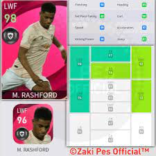 Iconic - M. Rashford Pes 2021 Mobile... - Zaki Pes Official