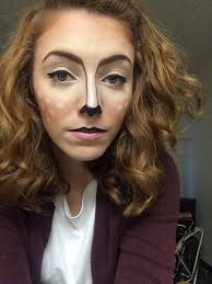first attempt at deer makeup for