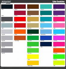 Dye Sublimation Color Chart Color Chart