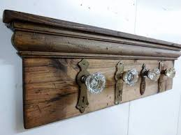 Old Door Knob Coat Rack
