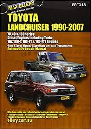 Toyota Landcruiser 1990-2007 Automobile Repair Manual: Diesel ...