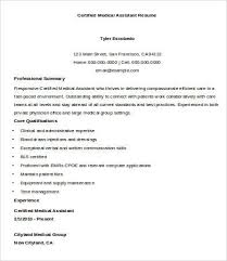 certified medical assistant resume sample sample of a medical assistant resume