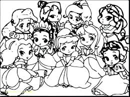 Cute Baby Disney Princess Coloring Pages Easter Christmas Collection