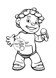 Small Picture Sid and microphone coloring pages for kids printable free Sid