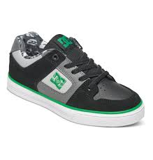 dc shoes for men low cut. dc shoes boy\u0027s 8-16 pure elastic se slip on colored black/grey dc for men low cut -