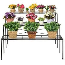 Flower Display Stand For Sale Large Modern Black Metal 100 Tier Shelf Flower Plant Display Stand 18