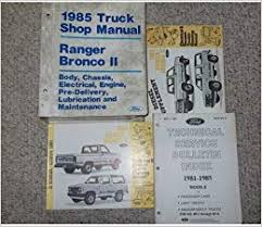 1985 ford ranger bronco ii truck service shop repair manual set oem flip to back flip to front