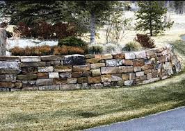 image of natural stone retaining wall design ideas