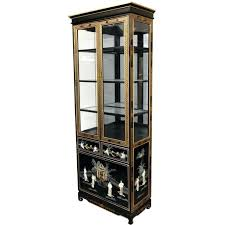 black display cabinet oriental furniture tall lacquer curio cabinet black mother of pearl las tall display black display cabinet contemporary