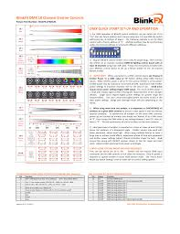 Blinkfx Dmx 10 Channel Emitter Controls Dmx Quick Start Set