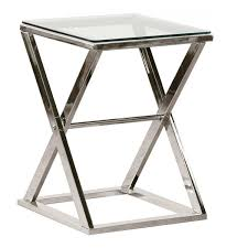 refreshed glass and chrome side table  of excellent side tables