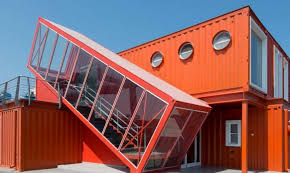 container office building. 7 bright red shipping containers repurposed as modern offices in israel ashdod port container office building u2013 inhabitat green design e