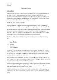 Essays Examples Leadership Essay Leadership This Essay Writing