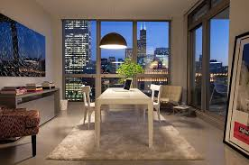 home office solution. Stunning Home Office With White Desk And Chairs Under Huge Pendant Light Also Rug Solution
