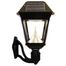 gama sonic imperial 2 19 in h led black solar outdoor wall light