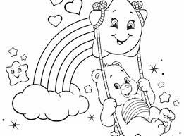 Small Picture Rainbow Heart and Summer Bonfires Care Bears Activity AG Kidzone