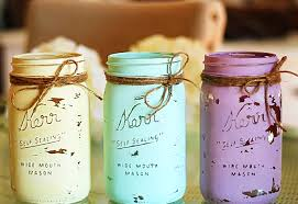 Ways To Decorate Glass Jars Mason Jar Crafts How To Chalk Paint Your Mason Jars 22