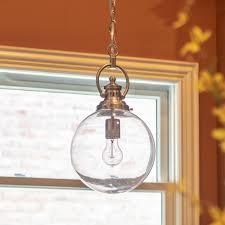 clifton 1 light brushed nickel pendant