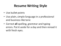 Writing Resumes Your Resume Tells An Employer How Well You Organise