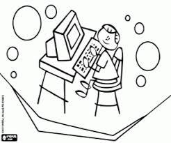 Bambino Che Gioca Al Computer Da Colorare E Stampare