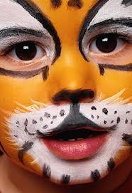 Schminken tijger voorbeeld