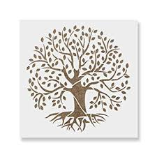 Template Tree Tree Of Life Stencil Template Reusable Stencil With Multiple Sizes Available