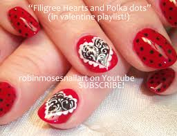 Robin Moses Nail Art: My Bloody Valentine Nail Art, Filigree Heart ...