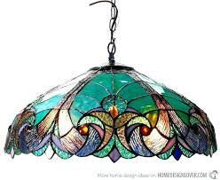 tiffany style light fixtures stained glass chandeliers hanging